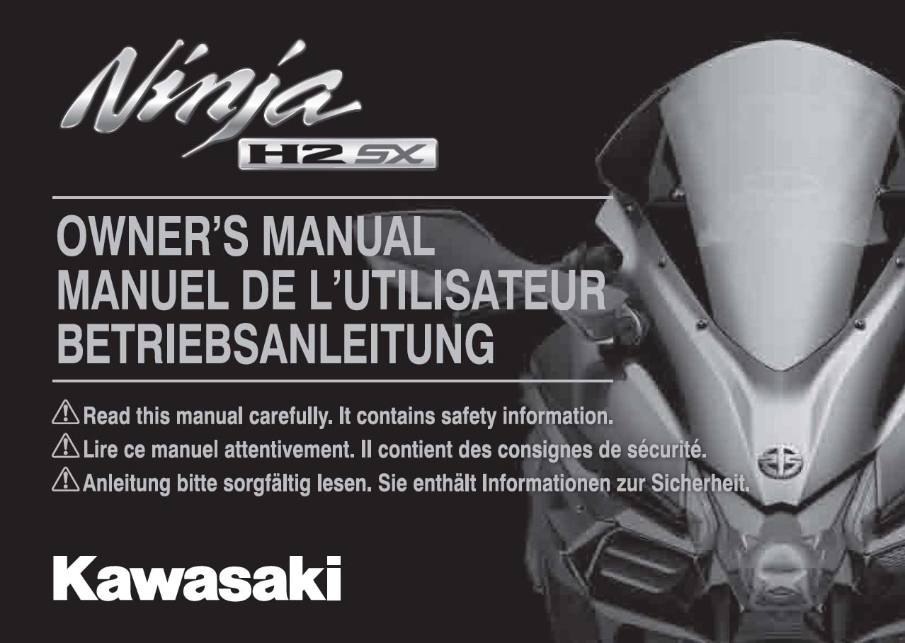 Kawasaki Ninja H2SX Owner's Manual
