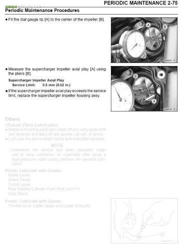 H2 SX Supercharger Impeller Axial Play Measurement